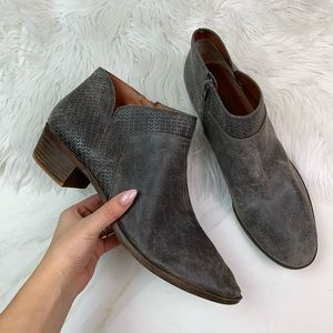 Lucky Brand Gray Distressed Boots